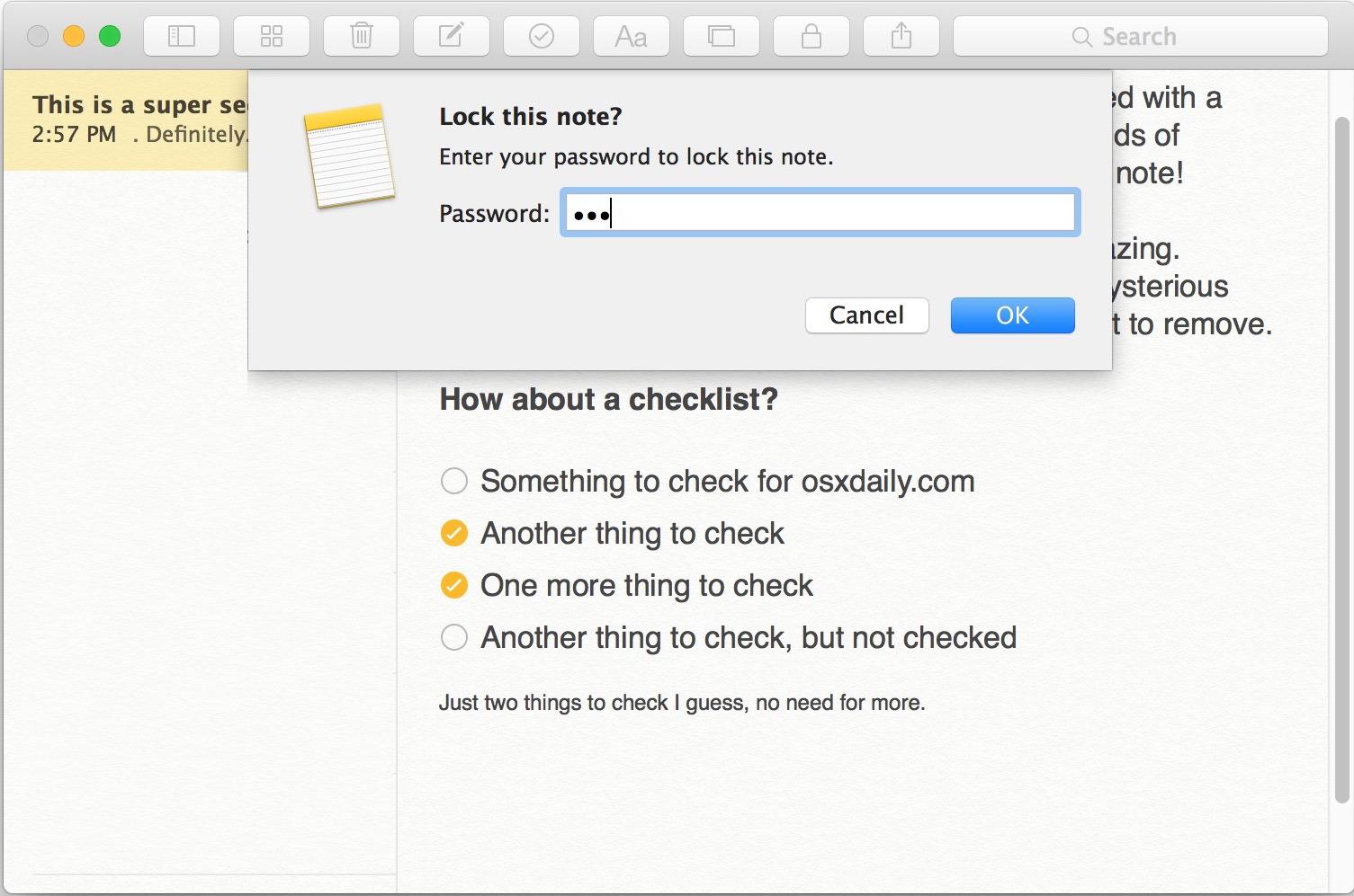 защитить паролем отмечает-MAC-OS-х-4