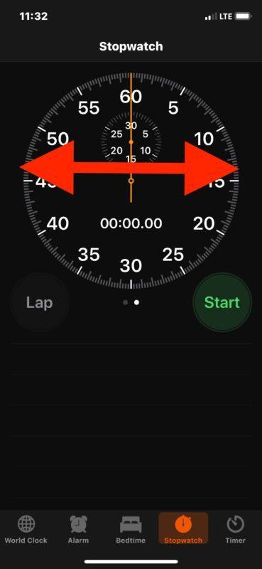 Доступ к различным представлениям секундомера в iOS