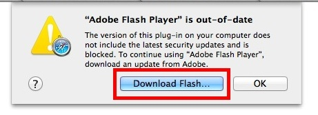 Загрузить Adobe Flash в Mac OS X Safari